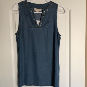 Michael Michael Kors tunic top with grommets small